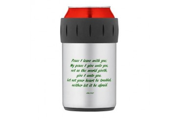 peace Thermos Can Cooler Art Thermosreg; Can Cooler by CafePress