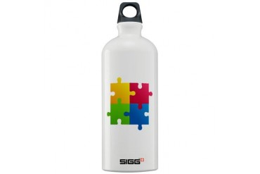 Colorful Puzzle Cool Sigg Water Bottle 1.0L by CafePress