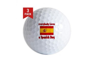 Everybody Loves a Spanish Boy Spanish Golf Balls by CafePress