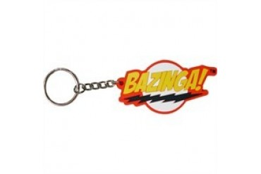 Big Bang Theory Bazinga PVC Rubber Flexible Keychain