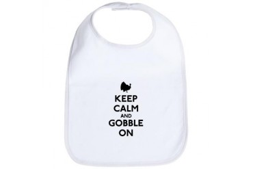 Keep Calm Gobble On Funny Bib by CafePress
