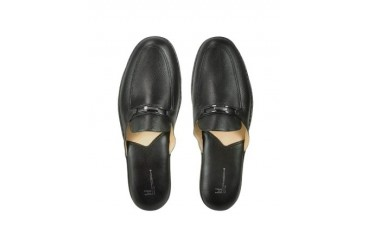 Antonio - Black Nappa Leather Classic Slippers