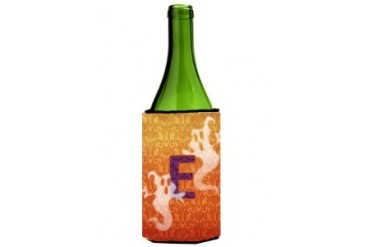 Halloween Ghosts Initial Letter E Wine Bottle Beverage Insulator Beverage
