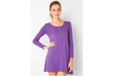 Noir Sur Blanc Ladies Long Sleeve Mini Dress