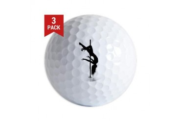 pole dancer 3 Sex Golf Balls by CafePress
