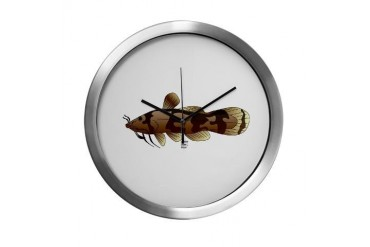 Madtom Catfish Drawing Modern Wall Clock by CafePress