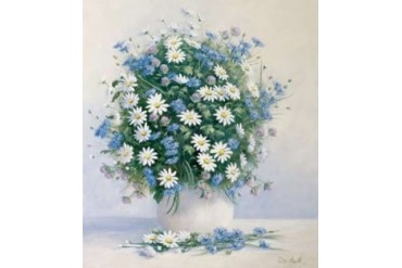 Bouquet in blue Poster Print by Peter Motz (24 x 24)