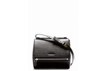 Givenchy Black Leather Pandora Box Medium Shoulder Bag