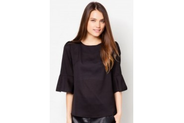 TLA Loose Round Neck Chiffon Top
