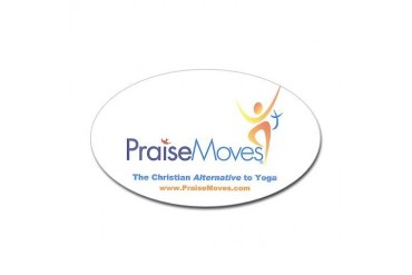 PraiseMoves sticker for Exercise mat or ??? Sticker Oval by CafePress