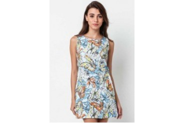 Louise printed shift dress