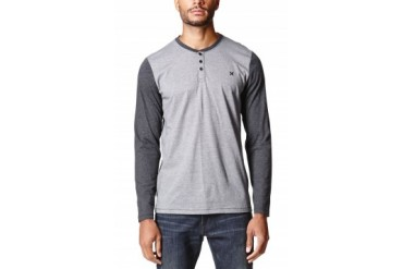 Mens Hurley Long Sleeve Shirts - Hurley Valley Long Sleeve Henley Shirt