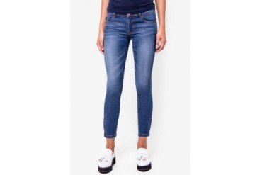 Catwalk88 Super Skinny Mid Wash Crop Jeans