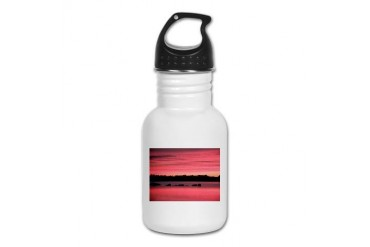 Pink Sunrise Nature Kid's Water Bottle by CafePress