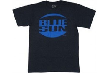 Firefly Blue Sun Corporation Royal Logo on Navy T-Shirt