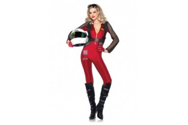 Womens Sexy F1 Racer Sports Halloween Costume