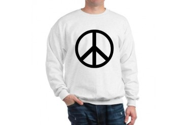 Peace Sign Symbol Vintage Sweatshirt by CafePress