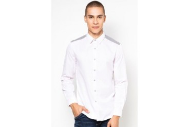 Manchu Striped Shirt With Elbow Patch