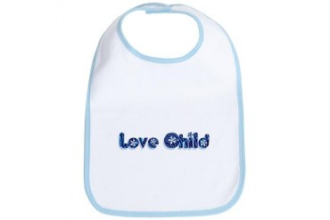 Baby Blue Love Child Humor Bib by CafePress