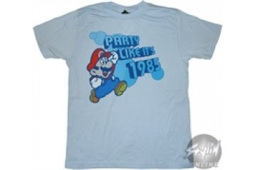 Nintendo Mario Party Like It's 1985 T-Shirt Sheer
