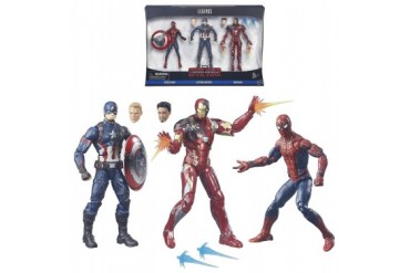 Captain America Civil War Legends 3PK Marvel Spider-Man Iron Man Figures