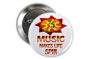 Music Spins Music 2.25 Button by CafePress