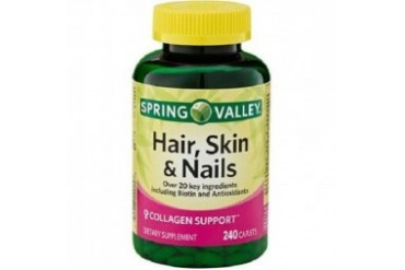Spring Valley Hair, Skin amp Nails Plus Biotin Dietary Supplement Caplets