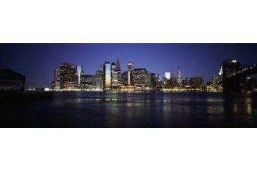 Manhattan skyline seen from Fulton Ferry, Brooklyn, New York City, New