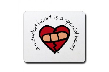 A Mended Heart... Awareness Mousepad by CafePress