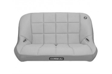 Corbeau Baja Rear Bench Seat in Gray Vinyl 64409 Seat