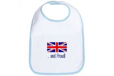 British and Proud Baby Baby Bib by CafePress
