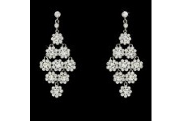 Elegance By Carbonneau Earrings - Style E939-SilverClear