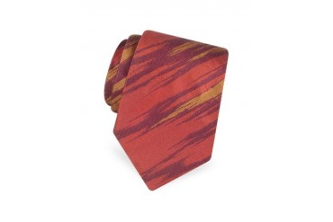 Shimmering Patterned Woven Silk Tie