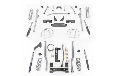 Rubicon Express 3.5 Inch Extreme Duty Radius Front/Rear 3-Link Long Arm Lift Kit with Mono-Tube Shocks JKR323M Complete Suspension Systems and Lift Kits