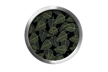 Tropical Leaves. Nature Modern Wall Clock by CafePress