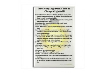 Dogs Change Lightbulb Dachshund Rectangle Magnet by CafePress