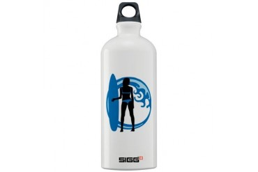 surfer wave board star beach babe sexy girl Sigg W Sexy Sigg Water Bottle 1.0L by CafePress