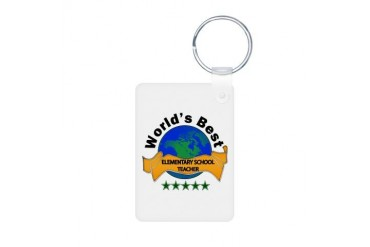 Teacher Aluminum Photo Keychain by CafePress