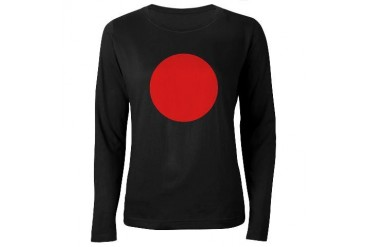 Flag of Japan Flag Women's Long Sleeve Dark T-Shirt by CafePress