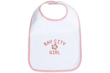 Bay City Pink Girl Michigan Bib by CafePress