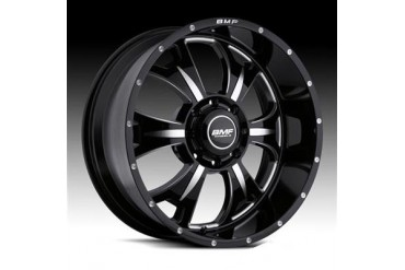 BMF Wheels M-80, 17x9 with 8 on 6.5 Bolt Pattern - Death Metal Black and Machined 462B-790816500 BMF Wheels