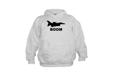 BOOM-F16.jpg Military Kids Hoodie by CafePress