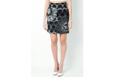 Anne Lita Printed Tube Skirt