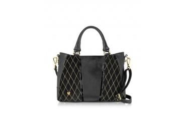 Black Calf Leather Satchel