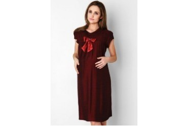 Copas Maroon Camouflage Dress