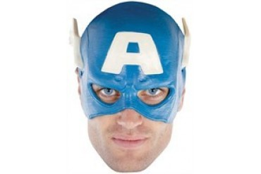 Marvel Comics Captain America Adult Quarter Head Vinyl Costume Cap Mask