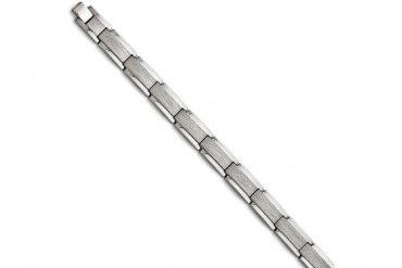 Chisel Tungsten Polished And Satin Bracelet