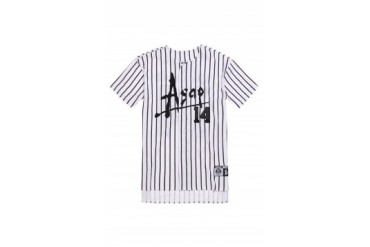 Mens A$Ap Worldwide T-Shirts - A$Ap Worldwide Starter Baseball Jersey Shirt