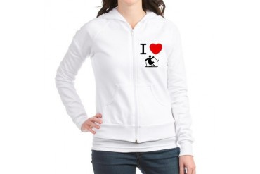 Adaptive Skiing Funny Jr. Hoodie by CafePress