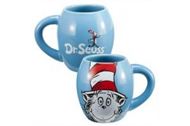 Dr. Seuss Cat in the Hat Blue 18 Ounce Oval Ceramic Mug